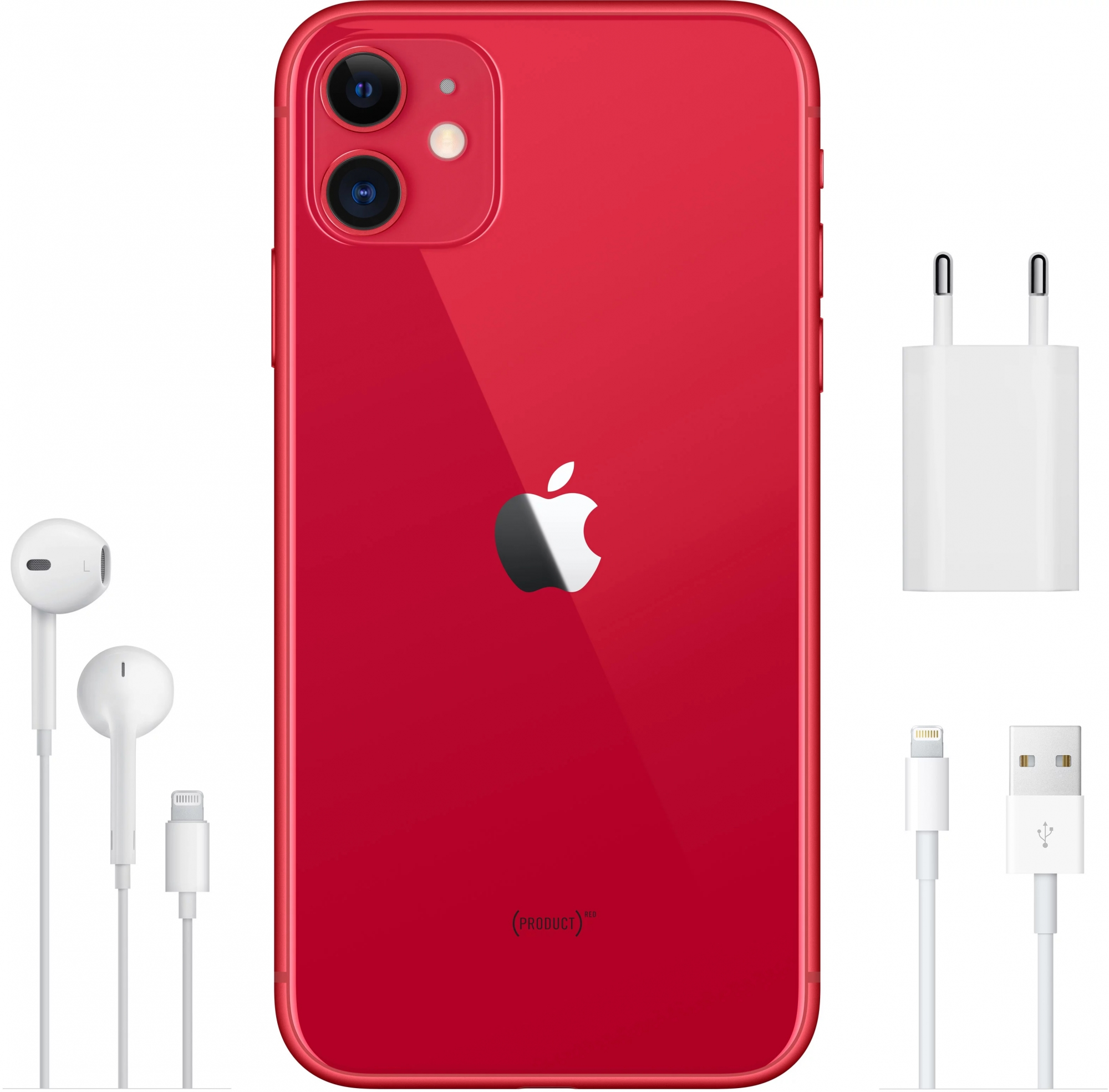 Смартфон Apple iPhone 11 128Gb (PRODUCT) RED (MWM32RU/A)