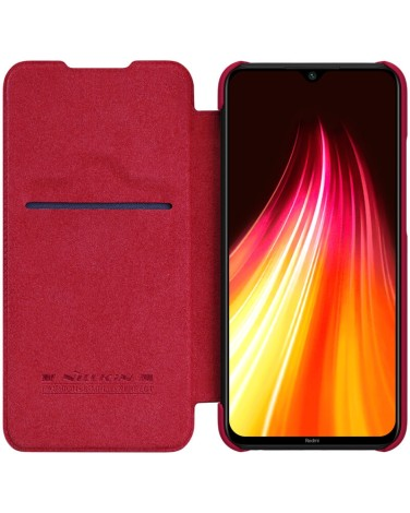 Чехол-книжка Nillkin Qin Series Leather case для Redmi Note 8, красный